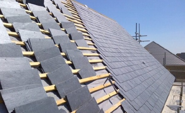 Roofer Fleet Slate roof