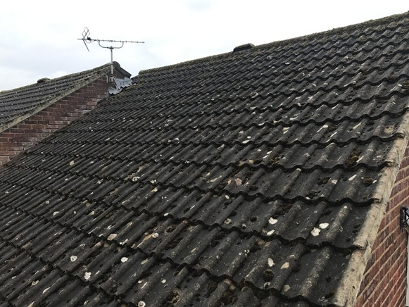 Pitched Roofinng before replacement from John Brown Roofing