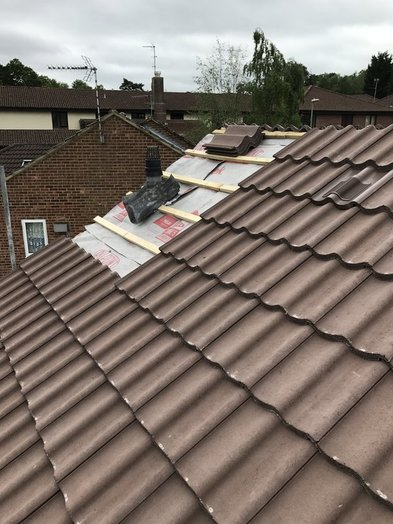 Pitched Roofinng during replacement from John Brown Roofing