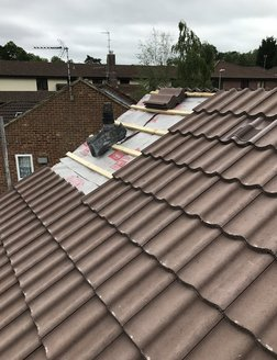 Pitched roof concrete tiles Surrey