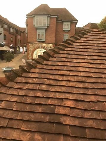 Pitched Roof Repair Dorking - Clay Tiles  From John Brown Roofing Fleet Hampshire
